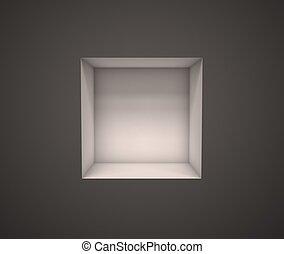 empty exhibition shelf - 3d illustration of empty exhibition...