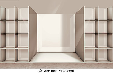 illustration of empty shelf