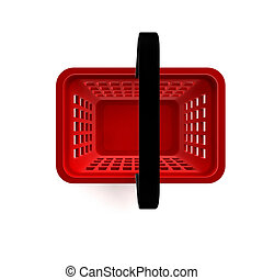 Empty Shopping Basket - 3D Illustration of Empty Shopping...