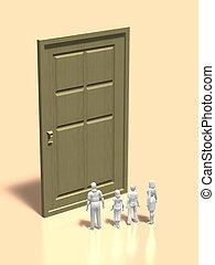 3D illustration of entrance