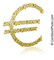 3D Illustration of euro