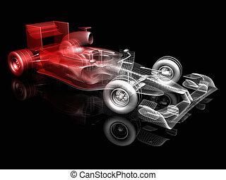 f1  - 3d illustration of f1 car
