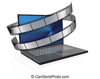 film - 3d illustration of film