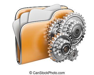 folder icon with gear wheel
