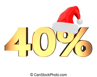 forty percent christmas discount