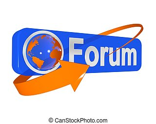 3d illustration of forum
