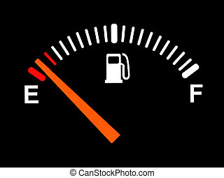 fuel meter - 3d illustration of generic fuel meter over...