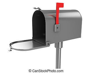 3d illustration of generic mailbox over white background