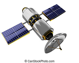 satellite - 3d illustration of generic satellite isolated...