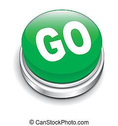 3d illustration of go button