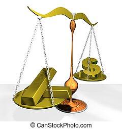 gold - 3d illustration of gold