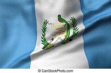 3D Illustration of Guatemala Flag