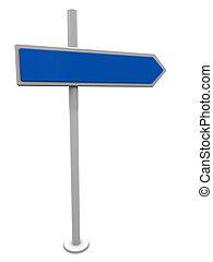 index - 3d illustration of index sign over white background