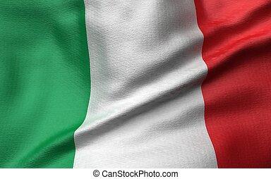 3D Illustration of Italy Flag