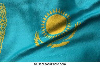 3D Illustration of Kazakhstan Flag