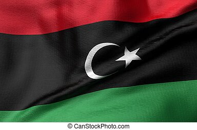 3D Illustration of Libya Flag