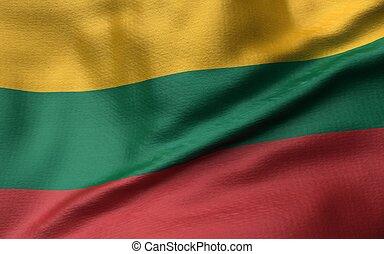 3D Illustration of Lithuania Flag