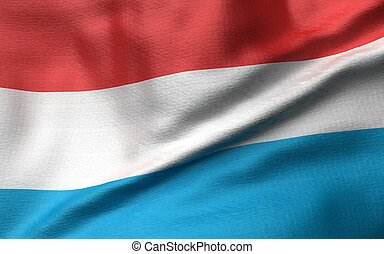 3D Illustration of Luxembourg Flag