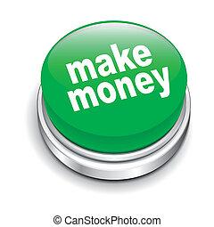3d illustration of make money button