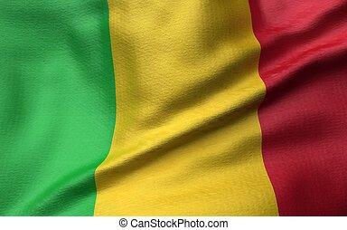 3D Illustration of Mali Flag