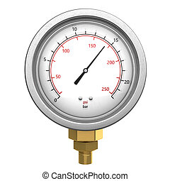 manometer - 3d illustration of manometer isolated over white...
