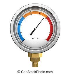 manometer - 3d illustration of manometer or water...