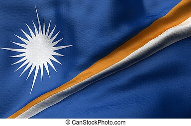 3D Illustration of Marshall Islands Flag