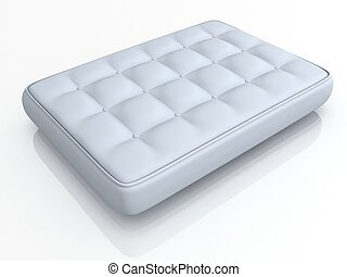 mattress isolated on white backgrou - 3d illustration of...