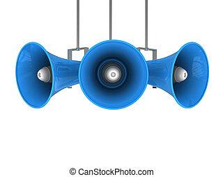 broadcasting - 3d illustration of megaphone broadcasting...