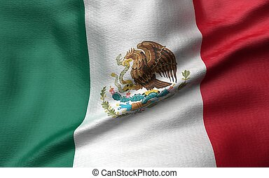3D Illustration of Mexico Flag