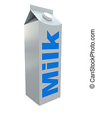 milk packet - 3d illustration of milk packet isolated over...