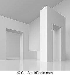 Modern Interior Background - 3d Illustration of Modern...