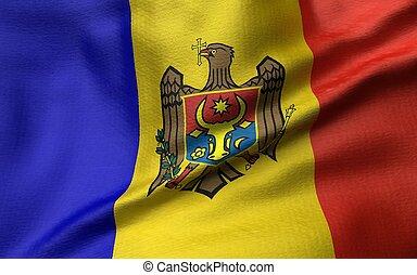 3D Illustration of Moldova Flag