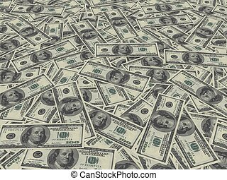 money - 3d illustration of money