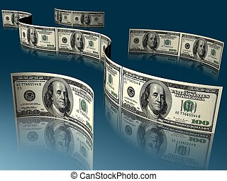 money - 3d illustration of money