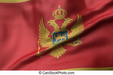 3D Illustration of Montenegro Flag