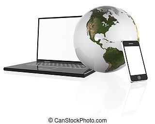 new technology  - 3d illustration of new technology