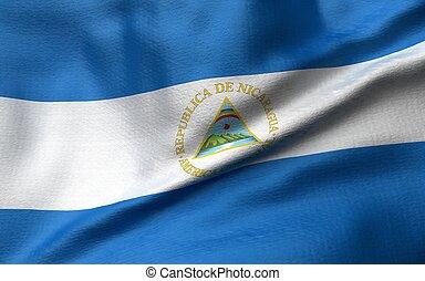 3D Illustration of Nicaragua Flag