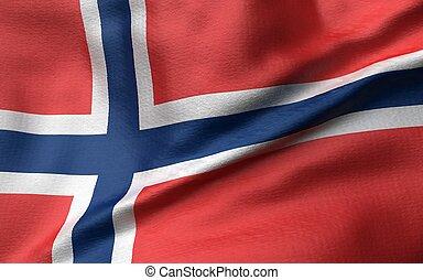 3D Illustration of Norway Flag