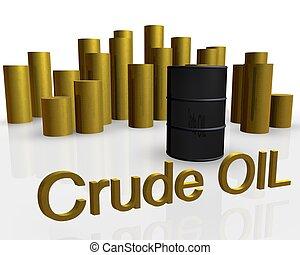 oil barrel - 3d illustration of oil barrel against pile of...