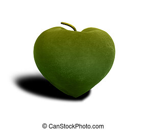 3d illustration of organic green apple fruit