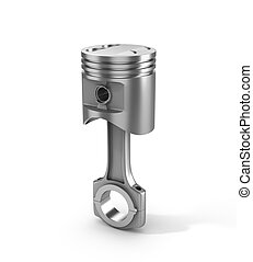 3d illustration of piston isolated on a white background.