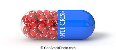 3d illustration of pound pill.