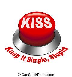 3d illustration of principle of KISS ( Keep It Simple, ...