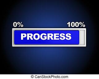3d illustration of progress bar, almost done