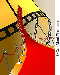 red carpet - 3d illustration of red carpet