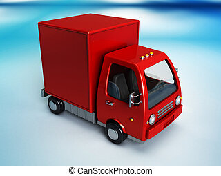red delivery truck