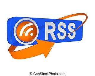 3d illustration of rss