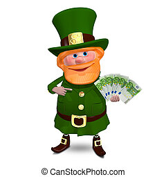 3D Illustration of Saint Patrick with Euro Veer