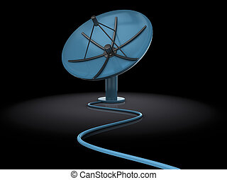 satellite antenna - 3d illustration of satellite antenna ...
